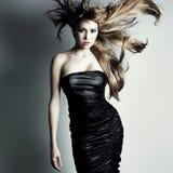 Ritratto della ragazza di dancing charming Fotografie Stock Libere da Diritti