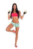Ritratto della ragazza di forma fisica con le palline da tennis Immagine Stock Libera da Diritti