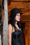 Ritratto della ragazza di Goth Fotografie Stock
