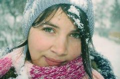 Ritratto della ragazza di inverno Fotografie Stock