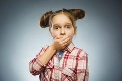 Ritratto della ragazza di offesa Emozione umana negativa immagine stock libera da diritti