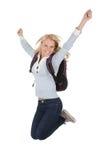 Ritratto della ragazza emozionante dell'allievo Fotografia Stock