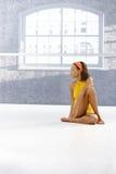 Ritratto della ragazza etnica del danzatore Immagine Stock Libera da Diritti