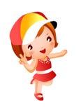Ritratto della ragazza felice illustrazione vettoriale