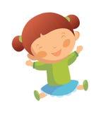Ritratto della ragazza felice illustrazione di stock