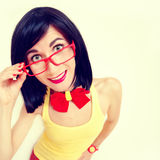 ritratto della ragazza felice attraente fotografia stock libera da diritti