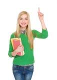 Ritratto della ragazza felice dello studente che ha idia Fotografie Stock