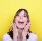 Ritratto della ragazza frustrata Fotografie Stock