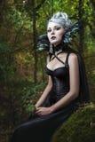 Ritratto della ragazza gotica fotografie stock