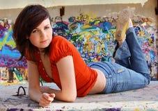 ritratto della ragazza grazioso Immagini Stock Libere da Diritti