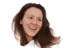 Ritratto della ragazza isolato Fotografie Stock