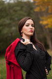 Ritratto della ragazza magica sorridente in autunno Fotografie Stock
