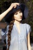 Ritratto della ragazza nel cappello Immagine Stock