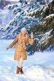 Ritratto della ragazza nell'inverno Fotografia Stock Libera da Diritti