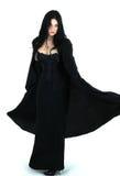 Ritratto della ragazza nello stile gotico Fotografia Stock