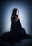 Ritratto della ragazza nello stile gotico Immagine Stock