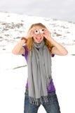 Ritratto della ragazza su un altai Immagine Stock Libera da Diritti