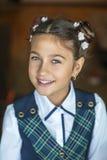 Ritratto della ragazza sveglia della scuola Immagine Stock