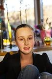 Ritratto della ragazza teenager attraente Fotografia Stock Libera da Diritti