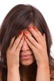 Ritratto della ragazza triste Immagine Stock