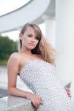 Ritratto della ragazza in vestito bianco #2 Immagine Stock Libera da Diritti