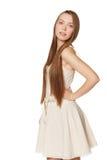 Ritratto della ragazza in vestito leggero Fotografie Stock Libere da Diritti