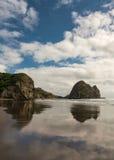 Ritratto della roccia del coniglio alla spiaggia di Piha Fotografie Stock Libere da Diritti