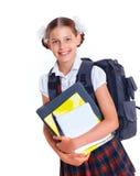 Ritratto della scolara allegra Fotografie Stock Libere da Diritti