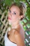 Ritratto della sposa che osserva in su Immagine Stock Libera da Diritti