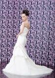 Ritratto della sposa dalla parte posteriore Fotografia Stock