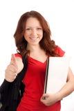 Ritratto della studentessa con i libri Fotografie Stock Libere da Diritti