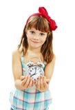 Ritratto della sveglia della tenuta della bambina Immagini Stock Libere da Diritti