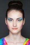 Ritratto della trasformazione della ragazza fotografia stock