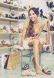Ritratto delle calzature di estate selezionate montaggio della donna Fotografia Stock Libera da Diritti