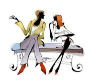 Ritratto delle coppie royalty illustrazione gratis