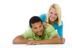 Ritratto delle coppie adolescenti Immagini Stock