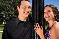 Ritratto delle coppie di estate Immagini Stock Libere da Diritti