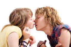 Ritratto delle coppie bacianti Immagine Stock Libera da Diritti