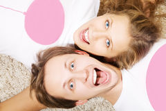 Ritratto delle coppie dei giovani di bellezza Fotografie Stock Libere da Diritti