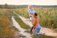 Ritratto delle coppie di amore Fotografia Stock