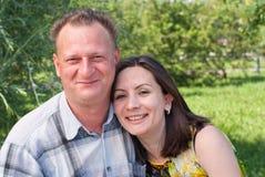 Ritratto delle coppie felici Immagini Stock