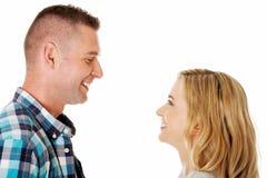 Ritratto delle coppie felici Fotografia Stock Libera da Diritti