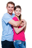 Ritratto delle coppie sorridenti attraenti Fotografia Stock Libera da Diritti