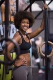 Ritratto delle donne di colore dopo l'esercizio di immersione di allenamento Fotografia Stock Libera da Diritti