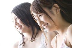 Ritratto delle donne giapponesi Immagini Stock
