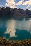 Ritratto delle montagne di Wakatipu del lago Fotografie Stock