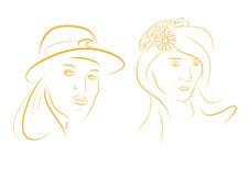 Ritratto delle ragazze royalty illustrazione gratis