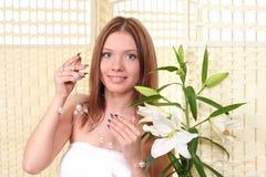 Ritratto delle ragazze graziose Fotografia Stock