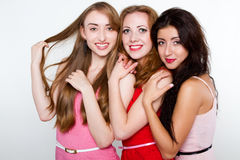 Ritratto delle ragazze sorridenti Fotografia Stock Libera da Diritti