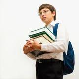 Ritratto dello scolaro diligente Fotografie Stock